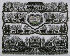 NEW CROSS STITCH KIT BLACK SILHOUETTE SAMPLER EVA ROSENSTAND CLARA WAEVER 12-942