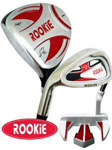 JUNIOR LEFT HAND GOLF SET RED 3 PCE for KIDS 10yrs plus  - RED KIDS GOLF CLUBS