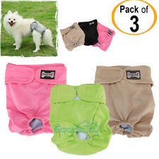 Reusable Washable Dog Diapers (3 Pack) - Dog Wraps for both Male and Female Dogs