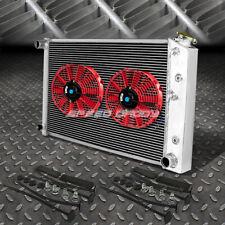 """3-ROW ALUMINUM RADIATOR+2X 12""""FAN RED FOR 69-88 CHEVY CAMARO/IMPALA/CUTLASS V8"""