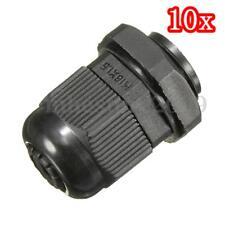 10x 16mm M16 Black Waterproof Compression TRS Cable Glands Stuffing IP68 Locknut
