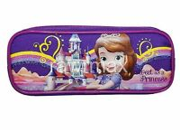 Disney Sofia the First Pencil Case Zippered Pouch Bag Authentic Licensed Purple