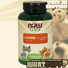 NOW Pets L-LYSINE FOR CATS 8oz / 226.8g Immune System Support Multi-cat Boarding