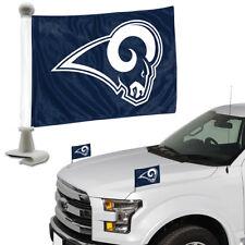 Los Angeles Rams Set of 2 Ambassador Style Car Flags - Trunk, Hood