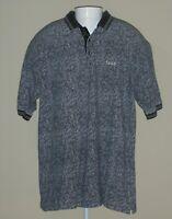 IZOD Mens XL Short Sleeve Shirt Golf Polo Black White Cotton Casual Comfort