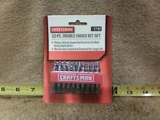 Craftsman 10 pc Double Ended Bit Set 9-3792 NEW