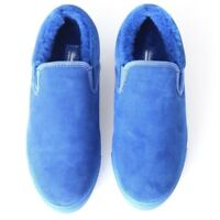 UNDERCOVER JUN TAKAHASHI blue suede shearling lined slip on sneaker shoes EU36