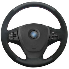 DIY Leather Suede Steering Wheel Cover for BMW F25 X3 2011-17 F15 X5 2014 #0138