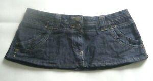 "7 1/4"" Length  Dark Blue  Denim  Micro Mini Skirt Size 12"