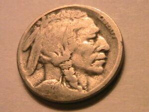1921-S Buffalo Nickel (G) Good Readable Date Original Indian Head 5 Cent Coin