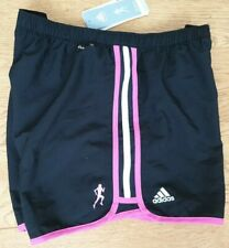 Adidas Womens Running Shorts UK 16 O55179 Beat breast Cancer Fitness Gym  (A7)