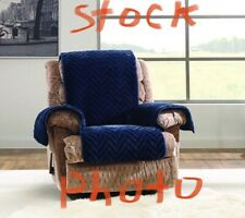 Sure Fit Waterproof Recliner Furniture Cover Storm Blue 76x64 No Pockets