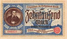 10.000 Mark 1923 Stadt DANZIG  Not Geld , Notgeldschein Ro: 799