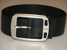 New Mens Black Leather Belt Size 38  -  96cm     (B105)