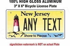 New Jersey Novelty Aluminum State License Plate - PERSONALIZED BICYCLE 3 X 6