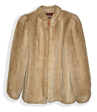 VTG Jordache Gorgeous Faux Fur Mink Zip Up Lined Jacket with Pockets-15/16*