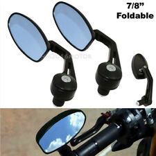 "Motorcycle 7/8"" Handle Bar End Rear View Mirrors For Triumph Street Speed Triple"