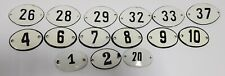 Old Vintage Antique Enamel Porcelain Sign House Numbers 1,4,7,8,9,10,26,28..