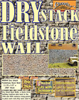 "Chooch (HO/O Scale) #8544 Flexible Stacked Field Stone Wall, 3-1/2"" x 12"" -  NIB"