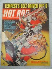 HOT ROD MAGAZINE SEPTEMBER 1965 TEMPEST BELT DRIVEN OHC 6  PIKES PEAK CAR AUTO