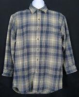 Pendleton Lodge Shirt Mens M Virgin Wool Flannel Long Sleeve Plaid Multi-Color