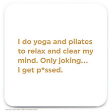 Coaster Drinks Mat Funny Witty Quote Amusing Humour Novelty Cheap Present Gift