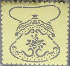 PURSE handbag  Sandy Clough Brass Stencil - card making , scrapbook , embossing