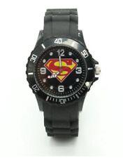 Superman Rotating Dial Silicone Wristwatch Black Wrist Watch Kids Super Men GN D
