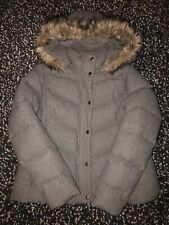 GAP Womens Grey Warm Winter Duvet Jacket Wool Puffa Coat Down Filled Ch:44 XL/TG