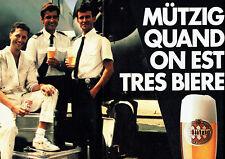 Publicité Advertising 028  1985   bière Mutzig  (2p)   aviation