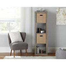 Better Homes and Gardens 4 Cube Storage Organizer - Rustic Gray Color