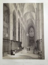 Bourges cathédrale 1850 GRANDE lithographie