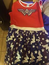Wonder Woman Dress with Cape Girls Size XL 14 TO 16