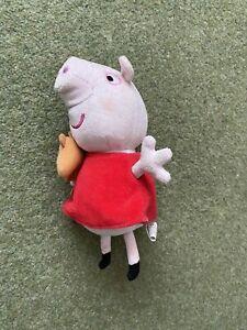 Peppa Pig Plush Toy With Teddy Bear Teddie Soft Tv Show