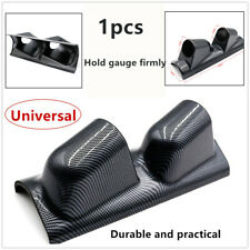 "1*High Quality 2"" Dual Gauge Cover Mount Holder Carbon Fiber For car ABS Fading"