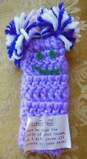 Cobweb Man - Crocheted - Lilac with Purple & White Hair - Duster - Handmade