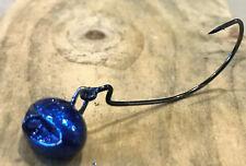 5pk 1/8oz Sapphire Blue Money Maker Football Swing Jig(biffle head)3/0Gamakatsu
