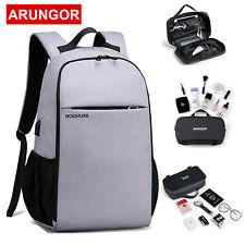 Mens Anti-Thief Waterproof Laptop USB Charge Backpack Travel School Business Bag