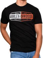 Harley-Davidson Mens Scraping Pegs Black Short Sleeve Biker T-Shirt