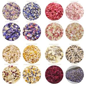 Natural Dried Petal Delphinium confetti - Wedding petal confetti - PREMIUM