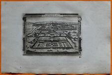 VAN DER AA Gravure originale c1725 SAINT-GERMAIN-EN-LAYE Château royal Terrasses