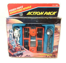 Vintage '70s Fisher Price toys Adventure SPACE ALPHA RECON Action Pack w/ Figure