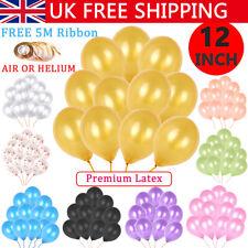 "100PCS 12"" Large Helium Latex Balloons Quality Wedding Birthday Hen Party Decor"