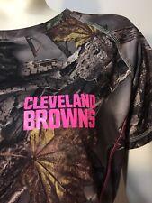 Cleveland Browns Womens Medium Cool Base Camo Tee Shirt Majestic Fan Fashion
