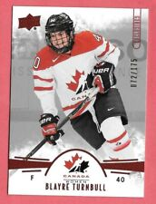2016-17 Blayre Turnbull Upper Deck Team Canada Juniors 072/175 Red
