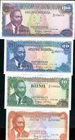 KENYA SET 4 PCS 5 10 20 100 SHILLINGS 1978 P 15 16 17 P 18 UNC