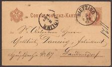AUSTRIA. POSTMARK HIETZING (LATER WIEN 88). 1882. 2kr BROWN USED CARD.