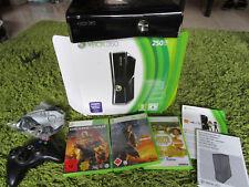 Microsoft Xbox 360 Konsole schwarz 250 GB + Spiele, TOP!!!