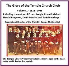 The Glory of the Temple Church Choir - Choir & Soloists 1914 - 1981 (Archive)
