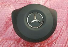 MERCEDES-BENZ AMG BLACK LEATHER DRIVER AIRBAG W205 W217 W222 COLOR: 9E38
